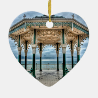 Brighton Bandstand, England Ceramic Heart Decoration