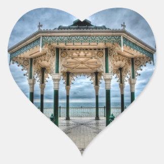 Brighton Bandstand, England Heart Sticker