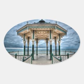 Brighton Bandstand, England Oval Sticker