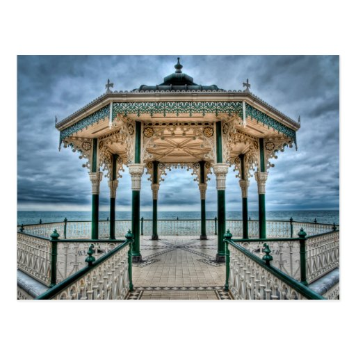 Brighton Bandstand, England Post Card