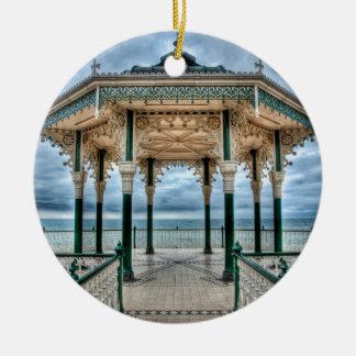 Brighton Bandstand, England Round Ceramic Decoration