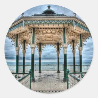 Brighton Bandstand, England Round Sticker