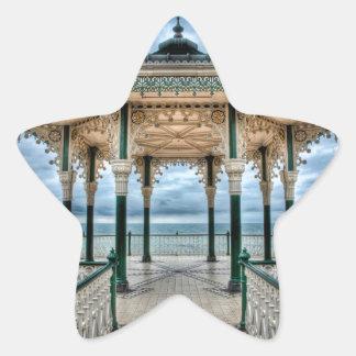 Brighton Bandstand, England Star Sticker