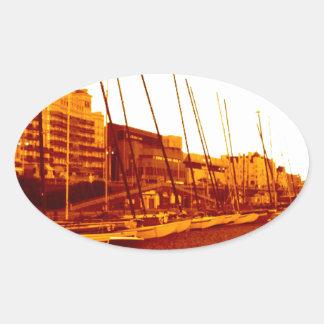 brighton beach (07) oval sticker