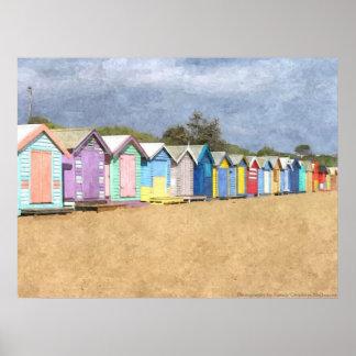 Brighton Beach Huts Poster