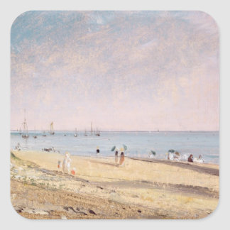 Brighton Beach (oil on canvas) Square Sticker