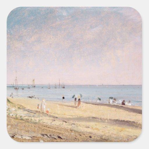 Brighton Beach (oil on canvas) Stickers