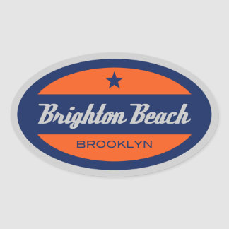 Brighton Beach Oval Sticker