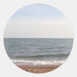Brighton Beach Round Sticker