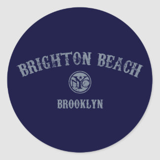 Brighton Beach Round Sticker