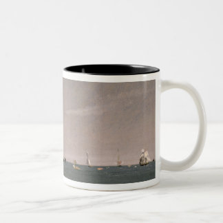 Brighton Beach with colliers, 1824 Two-Tone Coffee Mug