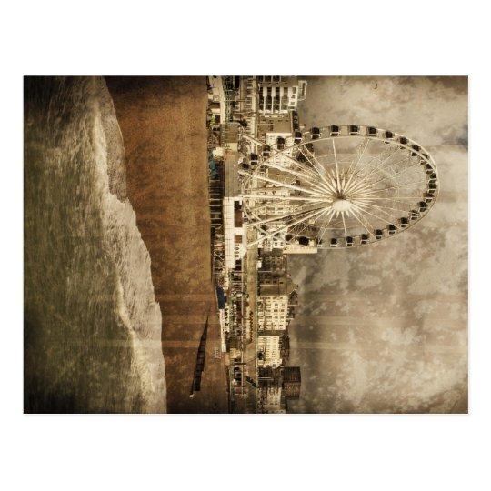 Brighton Big Wheel Aged Post Card