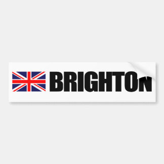 Brighton, British Flag Bumper Sticker