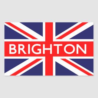 Brighton : British Flag Rectangular Sticker