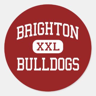 Brighton - Bulldogs - High - Brighton Colorado Round Stickers