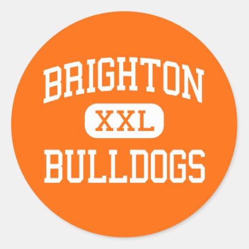 Brighton - Bulldogs - High - Brighton Michigan Stickers