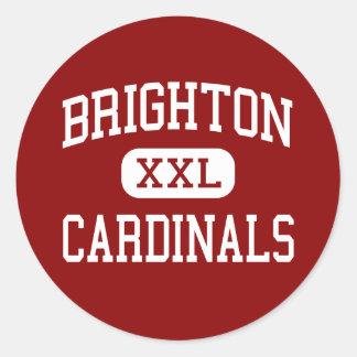 Brighton - Cardinals - High - Brighton Tennessee Round Stickers