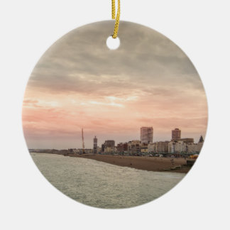 Brighton cityscape christmas ornament