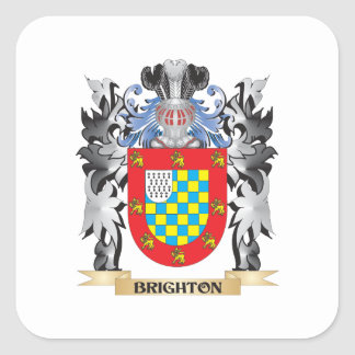 Brighton Coat of Arms - Family Crest Square Sticker