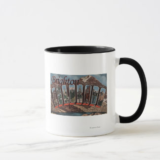 Brighton, Colorado - Large Letter Scenes Mug