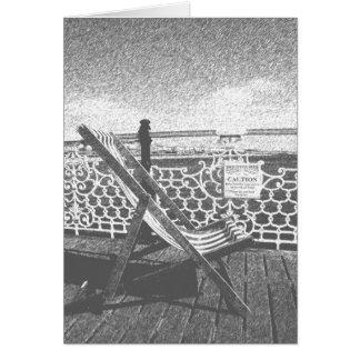 Brighton Deckchair Greetings Card