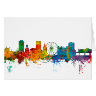 Brighton England Skyline Card