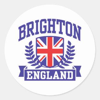 Brighton England Round Sticker
