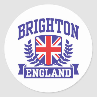 Brighton England Classic Round Sticker
