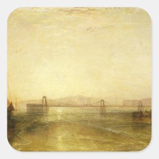 Brighton from the Sea, c.1829 Square Sticker