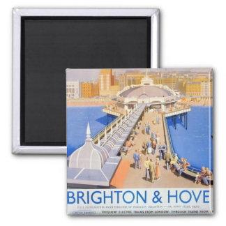 Brighton & Hove Railway Poster Vintage Hiking Duck Magnet