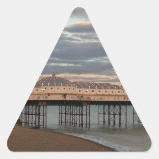 Brighton Palace Pier Triangle Sticker