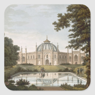 Brighton Pavilion: Proposed view of the garden wit Square Sticker