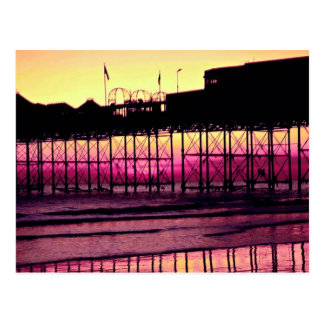 Brighton Pier at sunset, Sussex, England Postcard