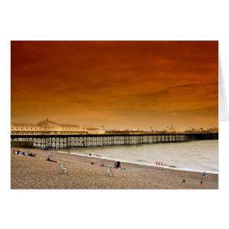 Brighton pier, England Card