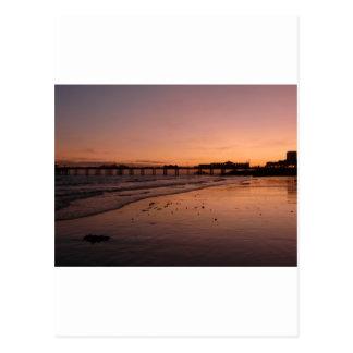 brighton pier in the sunset postcard