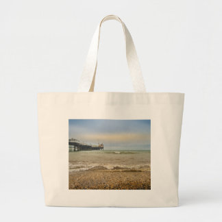 Brighton pier large tote bag