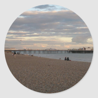 Brighton Pier Round Sticker