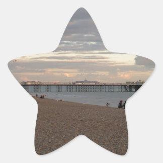 Brighton Pier Star Sticker