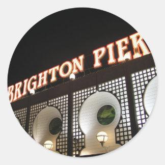 Brighton Pier, Sussex, UK Round Sticker