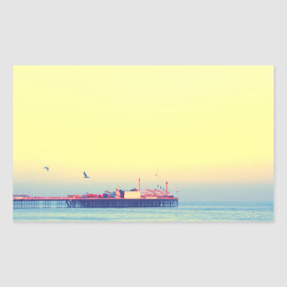 Brighton pier, UK Rectangular Sticker
