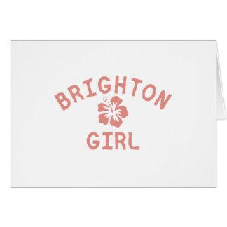 Brighton Pink Girl Greeting Card