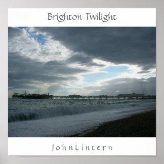 Brighton Twilight J o h n L Posters