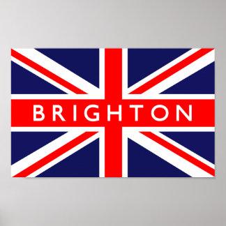 Brighton UK Flag Poster