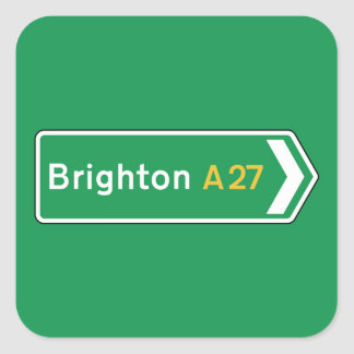 Brighton, UK Road Sign Sticker