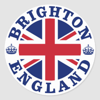 Brighton Vintage UK Design Classic Round Sticker