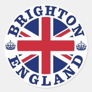 Brighton Vintage UK Design Round Sticker