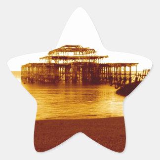 brighton west pier (07) star sticker