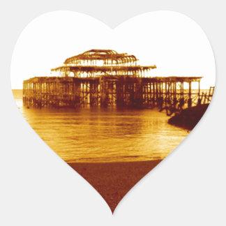 brighton west pier (07) heart sticker