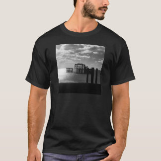 Brighton West Pier black & white T-Shirt