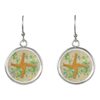 Brigid Cross Earrings